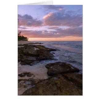 Cartão Por do sol havaiano