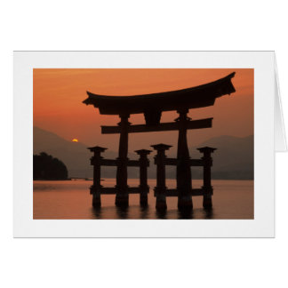 Cartão Por do sol Japão de Miyajima