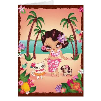 Cartão Por do sol mágico de Hula Lulu
