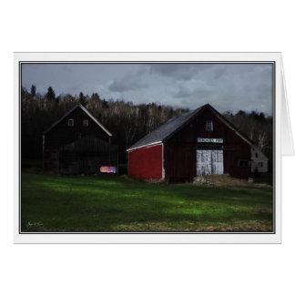 Cartão Pôr-do-sol na fazenda de Washday - de Broadacres,