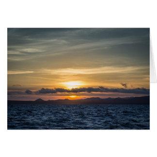 Cartão Por do sol na ilha de Bartolome