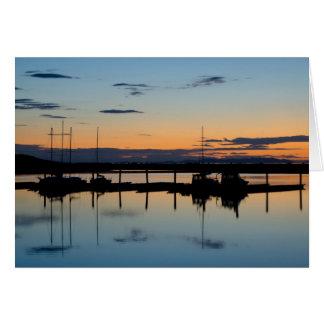 Cartão Por do sol na ilha do antílope, UT