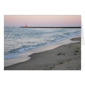 Cartão Por do sol na praia