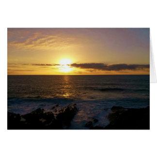 Cartão Por do sol Newquay Cornualha Inglaterra