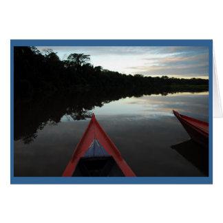 """Cartão """"Por do sol no Amazon """""""
