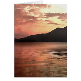 Cartão Por do sol no mar