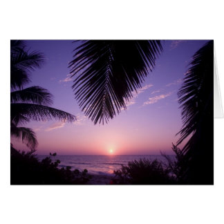 Cartão Por do sol no West End, caimão Brac, Cayman