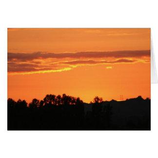 Cartão Por do sol Notecard