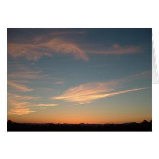 Cartão Por do sol, o 11 de setembro