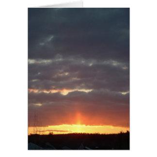 Cartão Por do sol, o 17 de março