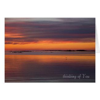 Cartão Por do sol pela simpatia do mar CC0158
