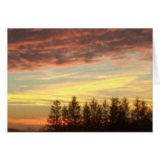 Cartão Por do sol perto do notecard vazio de Oakland