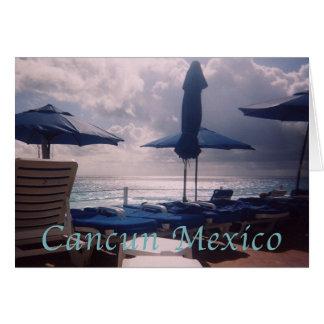Cartão Por do sol romântico morno de Cancun