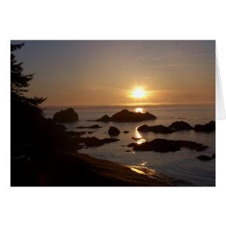Cartão Por do sol sobre a baía do arqueiro