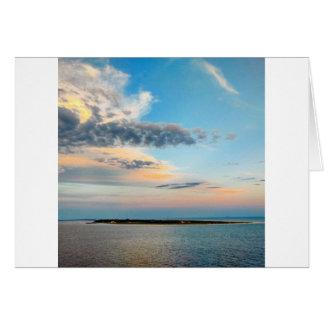 Cartão Por do sol sobre a ilha