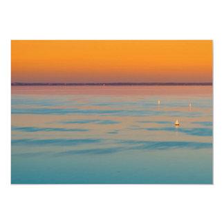 Cartão Por do sol sobre o lago Balaton, Hungria