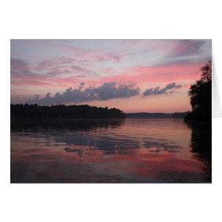 Cartão Por do sol sobre o lago Cazenovia