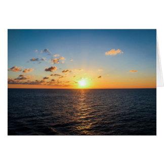 Cartão Por do sol sobre o Oceano Atlântico