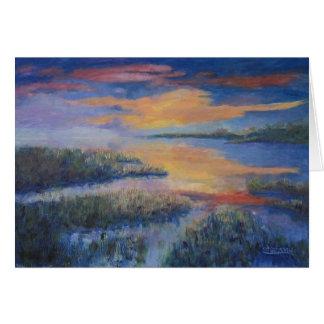 Cartão Por do sol sobre o pântano