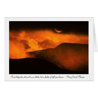 Cartão Por do sol sobre Quito, Equador