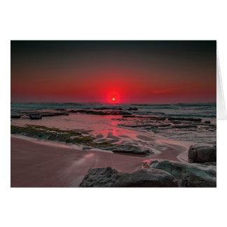 Cartão Por do sol tropical da praia