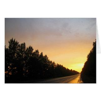 Cartão Por do sol ucraniano