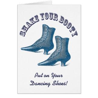 Cartão Por que nós não saímos dança? Botas do Victorian