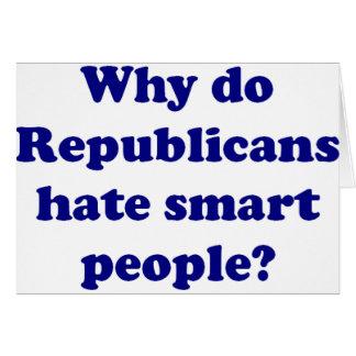 Cartão Por que os republicanos deiam pessoas espertas?