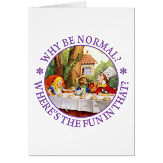 Cartão Por que seja normal? Onde está o divertimento