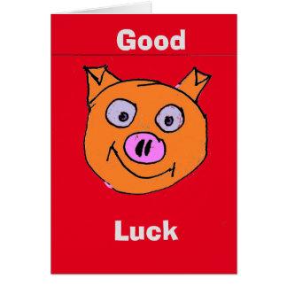 Cartão Porco afortunado
