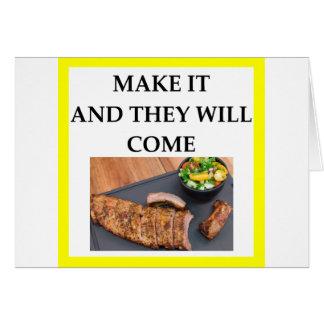 Cartão porco assado