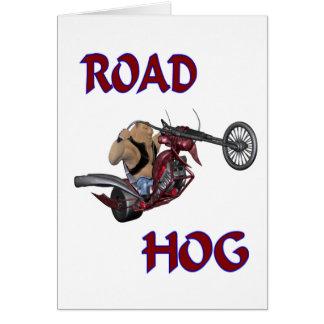 Cartão Porco de estrada