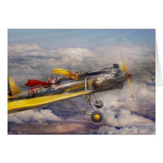 Cartão Porco do vôo - plano - o passeio da alegria