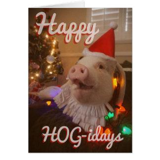 Cartão Porco-idays feliz!