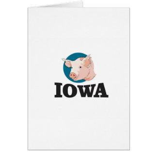Cartão porcos de iowa