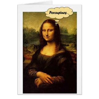 Cartão Porcos- de Mona Lisa