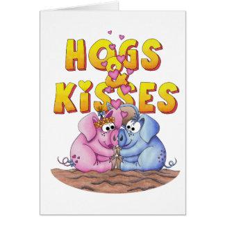Cartão PORCOS e beijos!