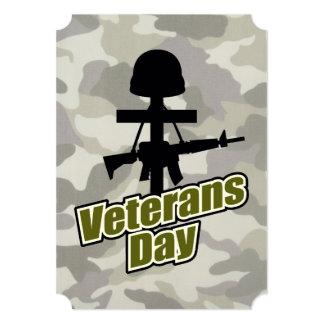 Cartão Porque é partido do dia de veteranos do dia de