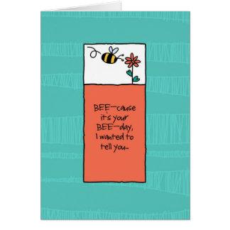 Cartão Porque é seu aniversário