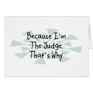Cartão Porque eu sou o juiz