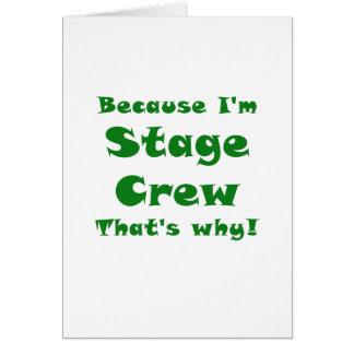 Cartão Porque grupo de palco Im é por isso