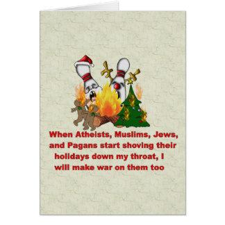 Cartão Porque há uma guerra no Natal