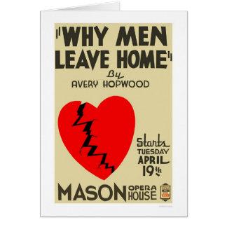 Cartão Porque os homens deixam WPA em casa 1938