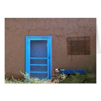 Cartão porta azul
