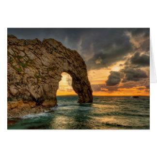 Cartão Porta Coastline| jurássico Dorset de Durdle,