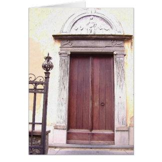 Cartão Porta das colunas