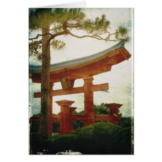 Cartão Porta de Torii