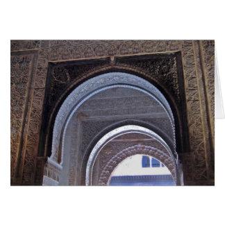 Cartão Porta tripla de Alhambra