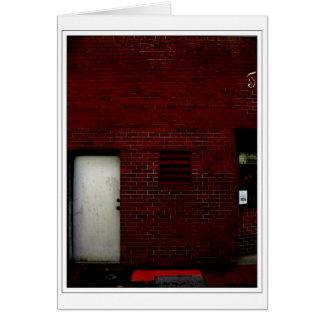 Cartão Porta vermelha