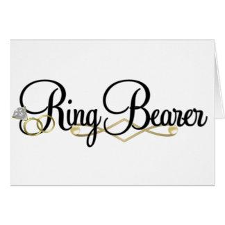 Cartão Portador de anel